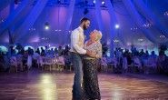mother son dance lighting change tent wedding