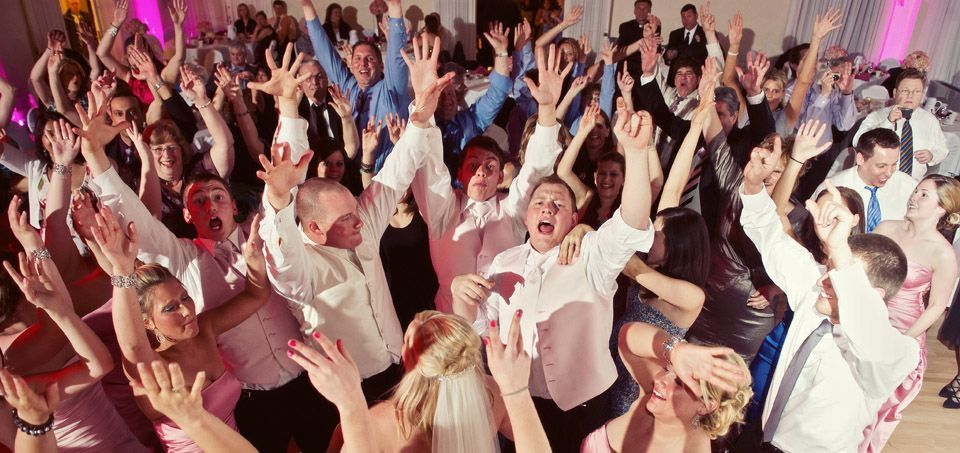 Packed dance floor because of best wedding DJ
