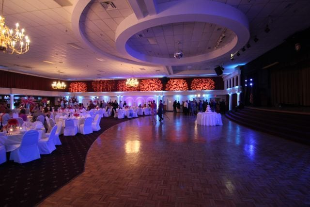 Croatian Lodge wedding reception lighting picture