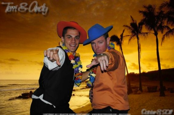 Our Green Screen Photo Booth also put these guys on a warm beach