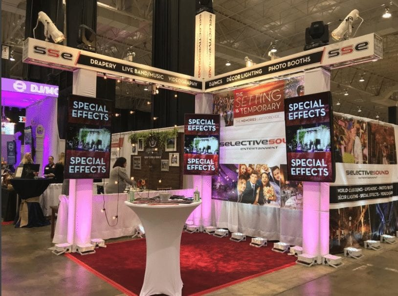 SSE set up at Cleveland bridal show