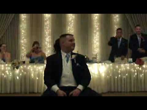 Wedding DJ guest interaction being shown through game by bride and groom
