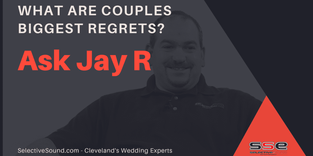 Caption regarding wedding planning tips by Jay R from Selective Sound Entertainment