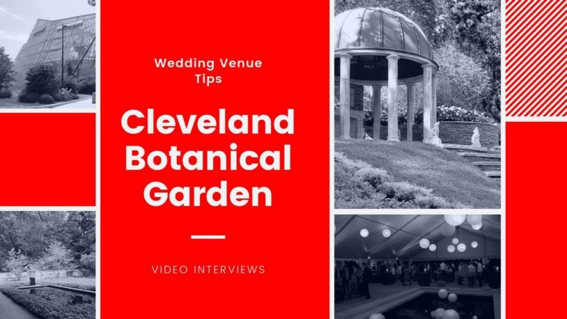 Cleveland botanical garden wedding venue