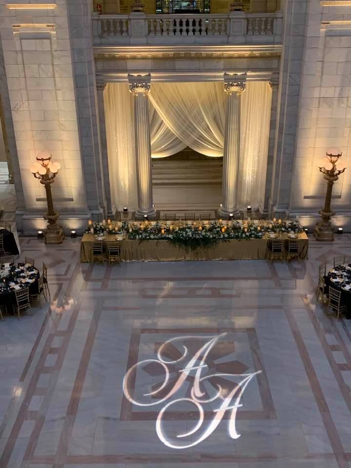 cleveland courthouse wedding reception picture