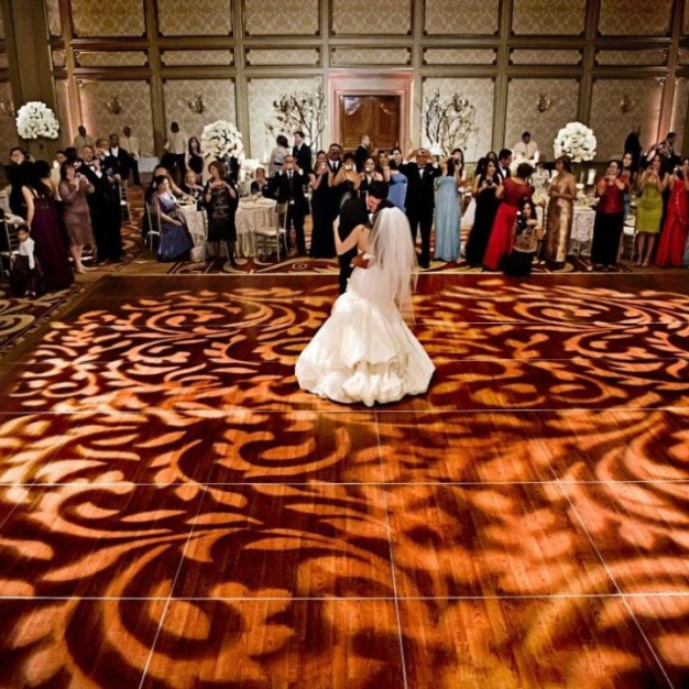 pattern wedding lighting covers old dance floor