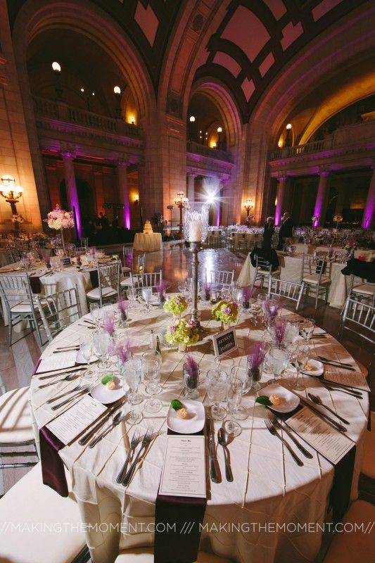 Wedding reception at the Old Cleveland Courthouse.