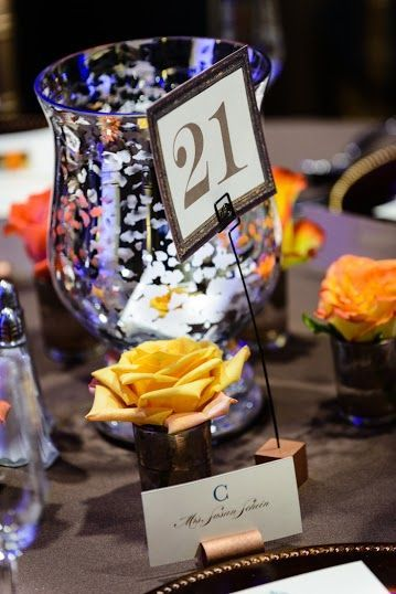 wedding table, place holder, table number, hand lettering, cleveland wedding