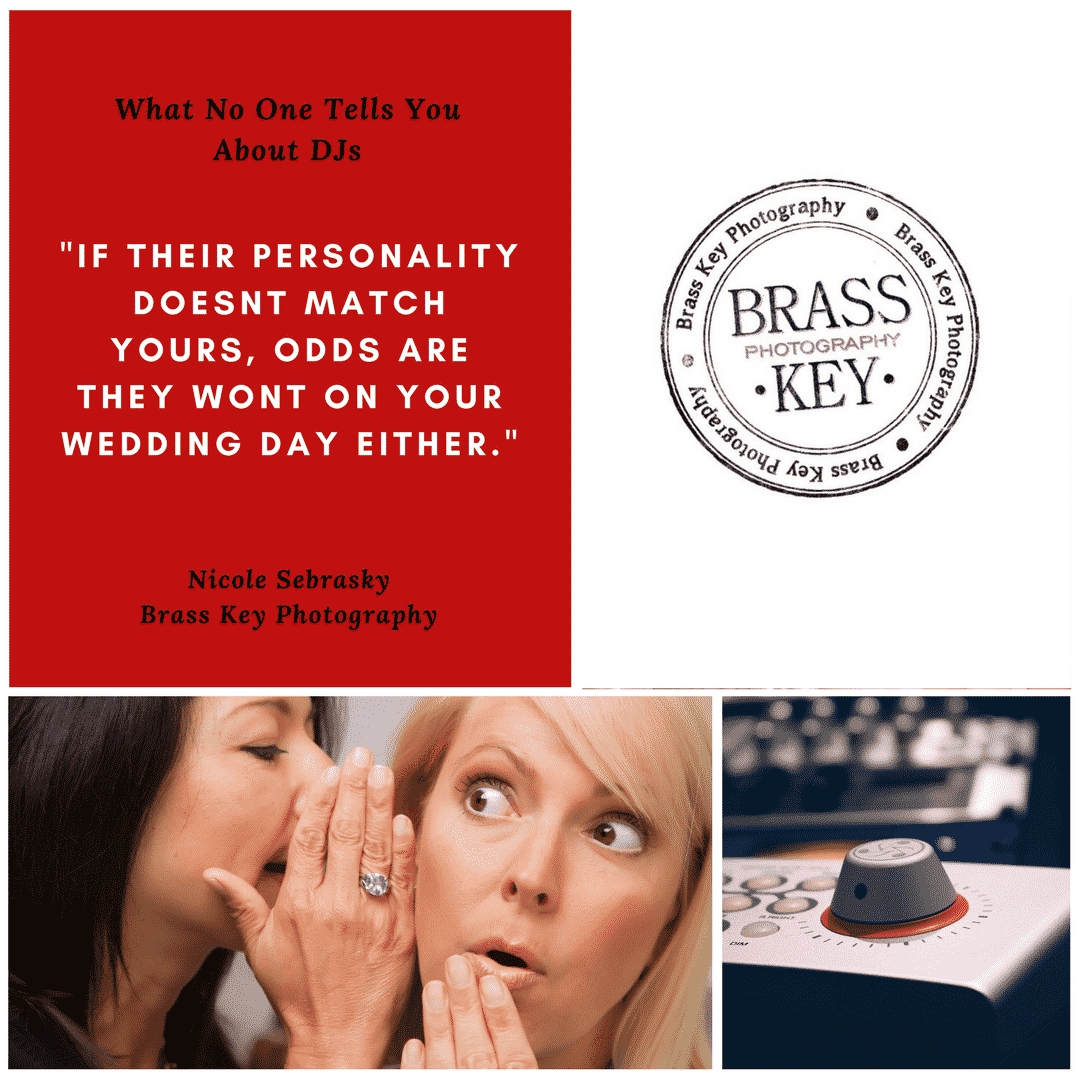 "Quote:""If their personality doesn't match yours, odds are they won't on your wedding day either."" -Brass Key Photography"