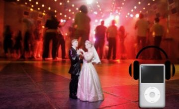 Picture of figurines dancing with an ipod