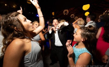 Wedding guests dancing to the best Cleveland area DJ