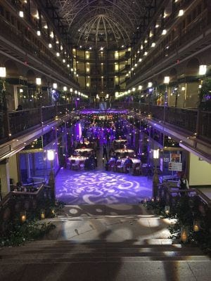 Hyatt @ The Old Arcade in Cleveland with our lighting