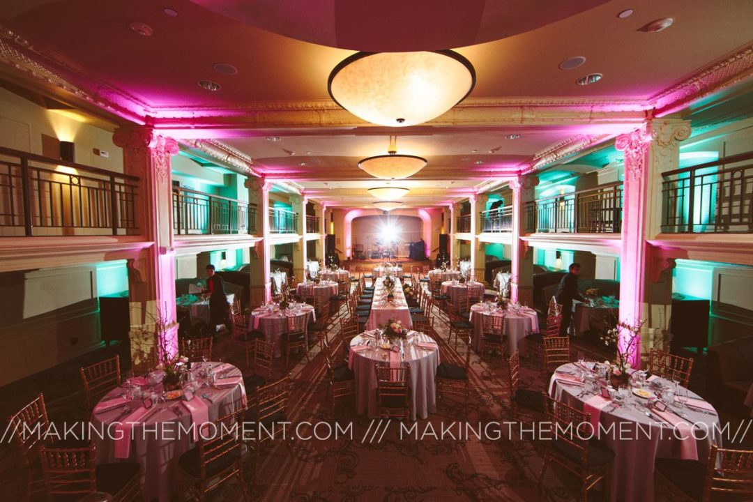 Park Lane Villa with pink and teal uplighting