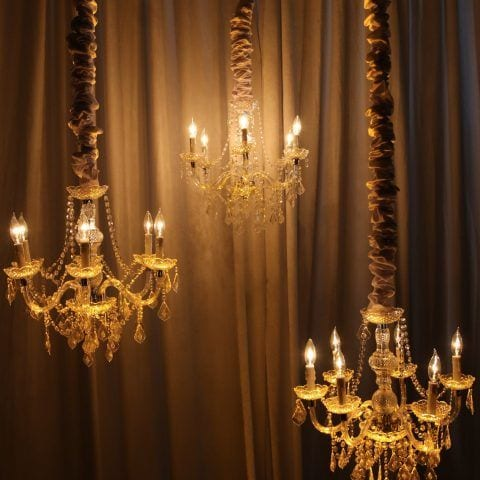 Cluster of 24`` Chandeliers