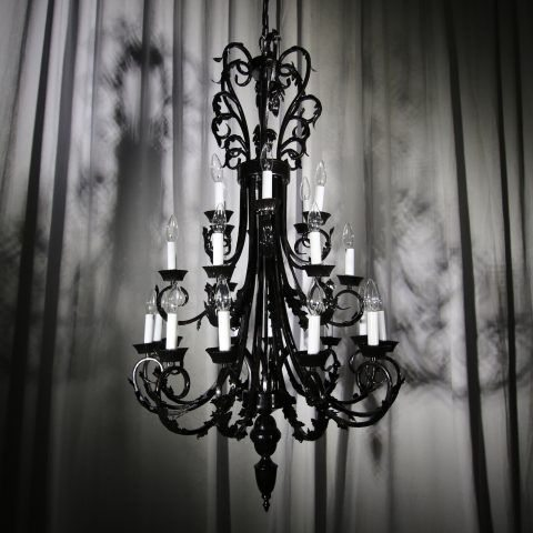 Iron 3 Level Chandelier