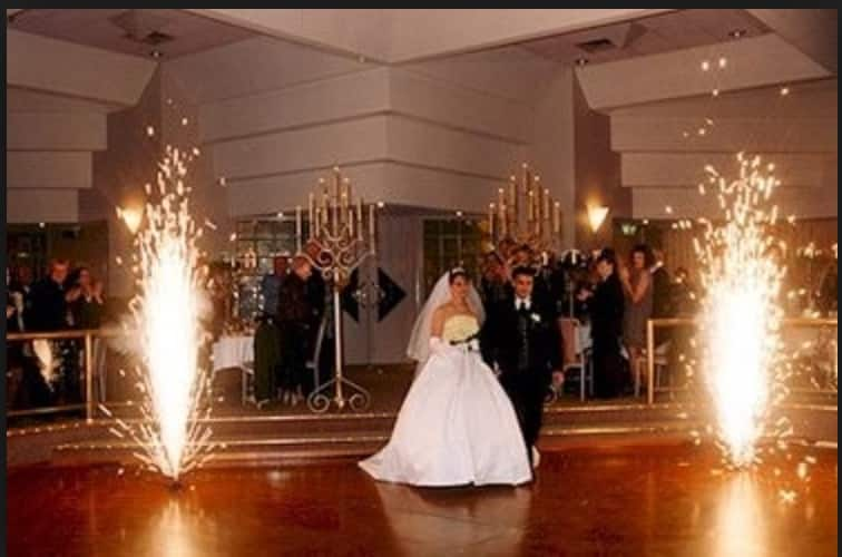 sparkular indoor fireworks at a wedding reception in cleveland ohio