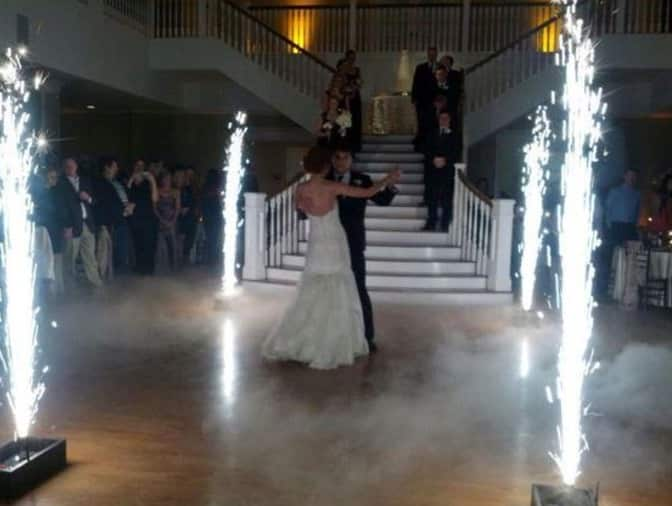 First dance with indoor fireworks sparkular