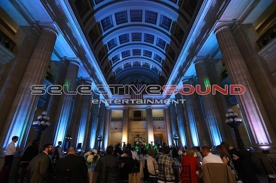 Cleveland City Hall rotunda lighting DJ