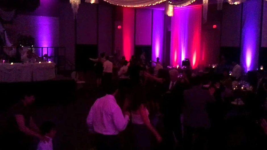 Wedding guests dance the night away at landerhaven in their grand ballroom