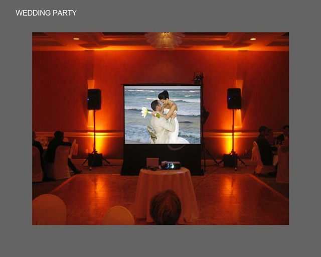 Selective Sound Entertainment Wedding Projectors