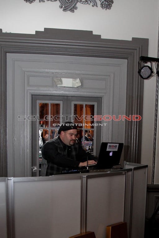 Wedding DJ, Jay R working his magic behind the DJ booth.